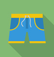 Shorts icon Modern Flat style with a long shadow vector image