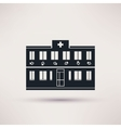 Veterinary Pet health care building icons vector image