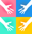 Helping Hands Charity vector image