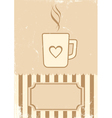 Retro of coffee vector image vector image