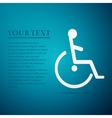 Disabled Handicap flat icon on blue background vector image