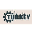 Energy and Power icons Turkey word vector image
