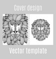 cover design for print with lion vector image