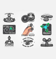 set of hand fidget spinner stress relief toys vector image