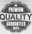 Premium quality 100 guaranteed retro label vector image