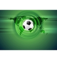 Green football abstract background with world map vector image