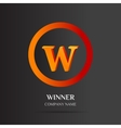 W Letter logo abstract design vector image