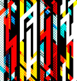 bright music seamless pattern vector image