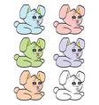 Cute cartoon baby rabbit vector image