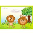 Dancing lions vector image