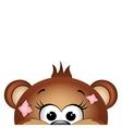Funny teddy bear vector image