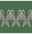 Ornate dragon patterns vector image