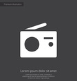 radio premium icon white on dark background vector image