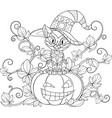 thematic coloring for halloween vector image