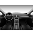 Dashboard - car interior vector image