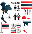 Map of Thailand vector image vector image