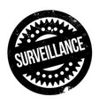 surveillance rubber stamp vector image