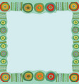 ethnic hand painted square frame vector image