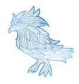 graphic bird vector image