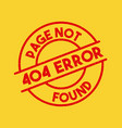 page not found vector image vector image