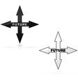 Future icon vector image vector image