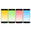 Set of colorful mobile smart phones vector image