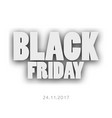 3d letters black friday for your design vector image