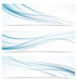Modern abstract smoke swoosh line header vector image