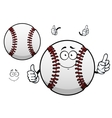 Cartoon baseball ball with thumb up vector image vector image