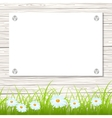 Wall with a piece of paper vector image