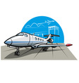business airplane vector image