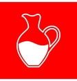 Amphora sign vector image