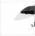 black umbrella on grunge background vector image