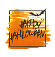happy halloween bats on background grunge stamped vector image