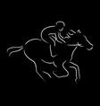 racing horse vector image