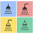 shower icon set vector image
