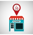 smartphone coffee store app location vector image