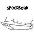 Speedboat of transportation art vector image