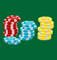casino poker chip for risk game in vegas lucky vector image