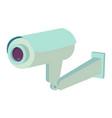 video surveillance security camera flat icon vector image