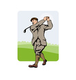 Golfer Swinging vector image