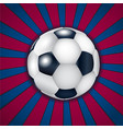 blue and pomegranate background with football ball vector image vector image