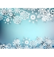 Christmas postcard with paper snowflakes EPS 10 vector image vector image
