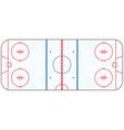 Hockey Rink vector image