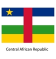 Flag of the country central african republic vector image
