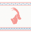 Christmas knitted pattern with goat vector image vector image