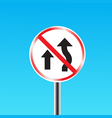 Do not overtake traffic sign vector image