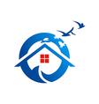 home beach village realty logo vector image
