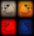 eagles sketch vector image vector image
