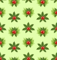 Seamless Pattern Christmas Holly Berry Background vector image